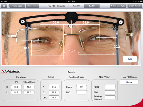8aa5a7adee L'application Ophtalmic Vision Fit sur iPad pour les opticiens ...